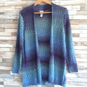 Chicos blue cardigan size small